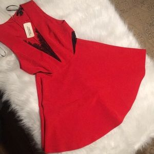 Forever 21 Red Lace Skater Dress